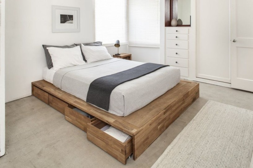 Lovely Diy Wooden Platform Bed Design Ideas 04