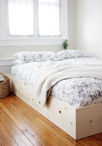 Lovely Diy Wooden Platform Bed Design Ideas 08