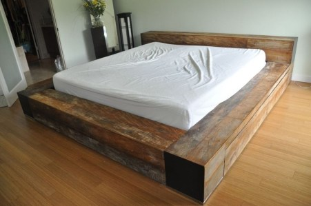 Lovely Diy Wooden Platform Bed Design Ideas 34