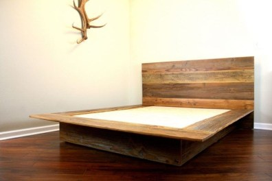 Lovely Diy Wooden Platform Bed Design Ideas 41