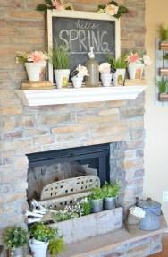 Popular Farmhouse Mantel Decorating Ideas 17