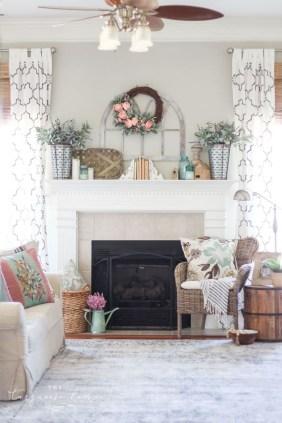 Popular Farmhouse Mantel Decorating Ideas 41