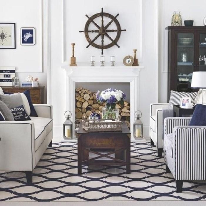 30 stylish coastal themed living room decor ideas - Nautical theme living room ...