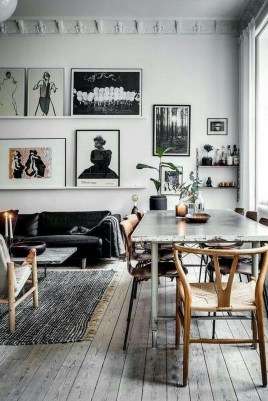 Affordable Apartment Living Room Design Ideas With Black And White Style 43