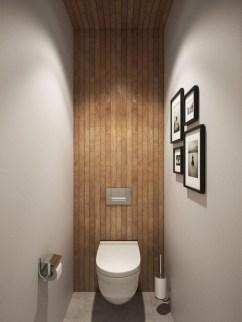 Comfy Farmhouse Wooden Bathroom Design Ideas 27