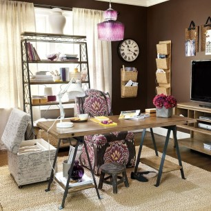 Gorgeous Industrial Table Design Ideas For Home Office 15