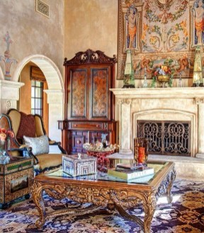 Luxury European Living Room Decor Ideas With Tuscan Style 13