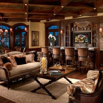 Luxury European Living Room Decor Ideas With Tuscan Style 18