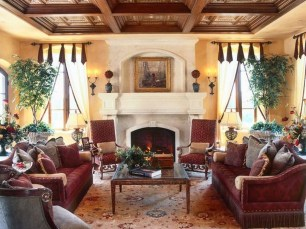 Luxury European Living Room Decor Ideas With Tuscan Style 23