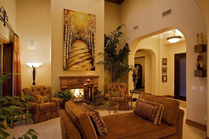 Luxury European Living Room Decor Ideas With Tuscan Style 47