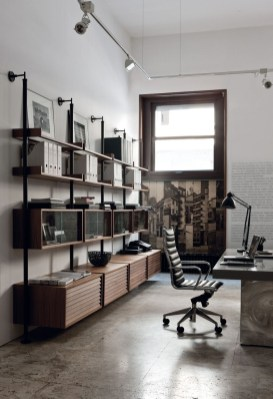 Magnificient Industrial Office Design Ideas 20