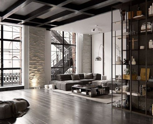 Perfect Industrial Style Loft Designs Ideas For Living Room 07