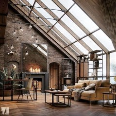 Perfect Industrial Style Loft Designs Ideas For Living Room 31