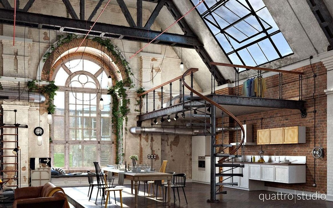 20+ Perfect Industrial Style Loft Designs Ideas For Living ...