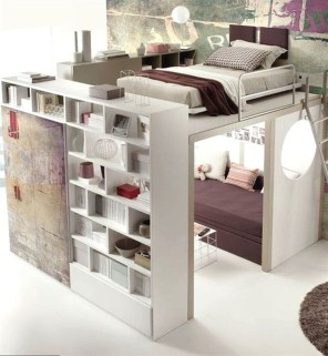 Relaxing Small Loft Bedroom Designs 36