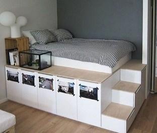Relaxing Small Loft Bedroom Designs 44