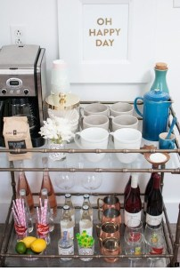 Wonderful Apartment Coffee Bar Cart Ideas 27