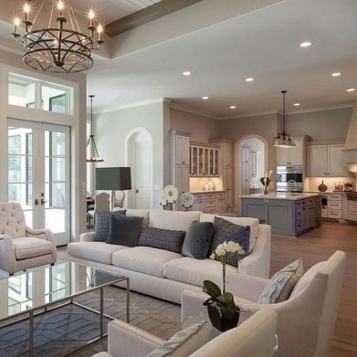 Impressive French Style Living Room Designs Ideas 09