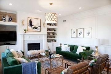 Popular Velvet Sofa Designs Ideas For Living Room 43