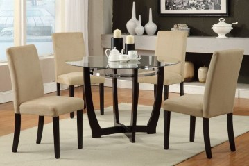 Striking Round Glass Table Designs Ideas For Dining Room 12