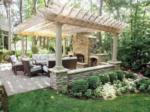 Comfy Porch Design Ideas For Backyard 19