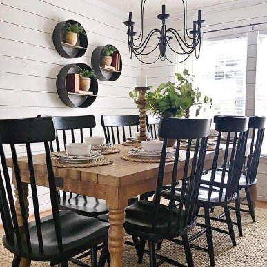 Cute Farmhouse Table Design Ideas Which Is Not Outdated 17