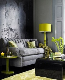 Enchanting Living Rooms Ideas With Combinations Of Grey Green 17