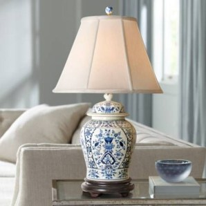 Fancy Living Room Decor Ideas With Ginger Jar Lamps 13