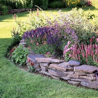 Gorgeous Front Yard Retaining Wall Ideas For Front House 29
