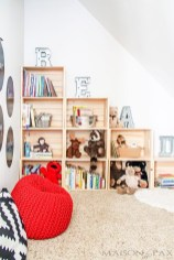 Cozy Bookcase Ideas For Kids Room 15