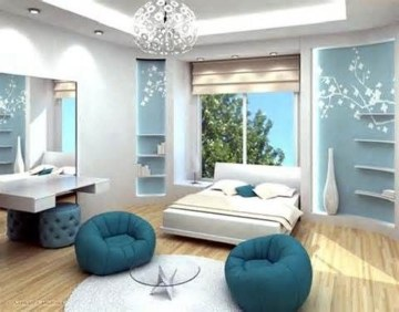 Cute Love Blue Ideas For Teenage Bedroom 12
