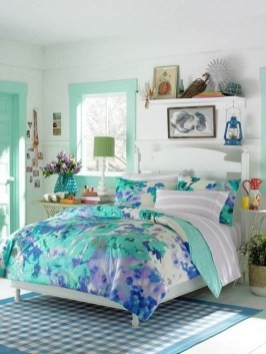 Cute Love Blue Ideas For Teenage Bedroom 25