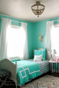 Cute Love Blue Ideas For Teenage Bedroom 40