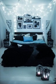 Cute Love Blue Ideas For Teenage Bedroom 41