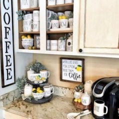 Affordable Diy Mini Coffee Bar Design Ideas For Home Right Now 48