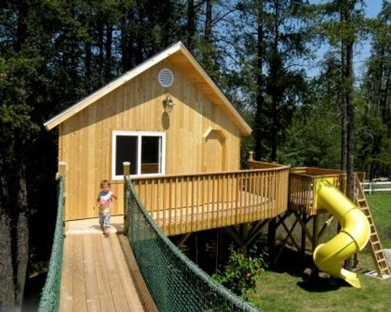 Captivating Treehouse Ideas For Children Playground 26