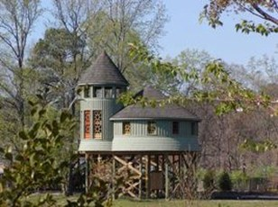 Captivating Treehouse Ideas For Children Playground 40