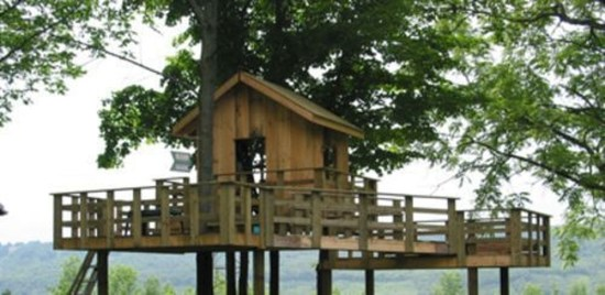 Captivating Treehouse Ideas For Children Playground 44
