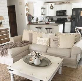 Fancy Farmhouse Living Room Decor Ideas To Try 03