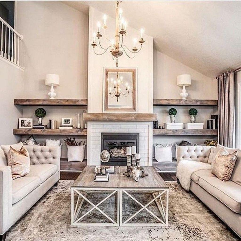 30+ Fancy Farmhouse Living Room Decor Ideas To Try ... on Curtains For Farmhouse Living Room  id=18763