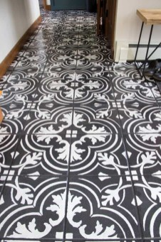 Unusual Diy Painted Tile Floor Ideas With Stencils That Anyone Can Do 34