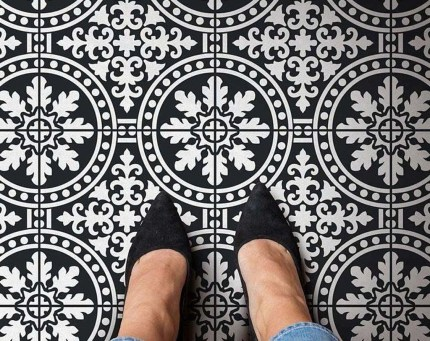 Unusual Diy Painted Tile Floor Ideas With Stencils That Anyone Can Do 36