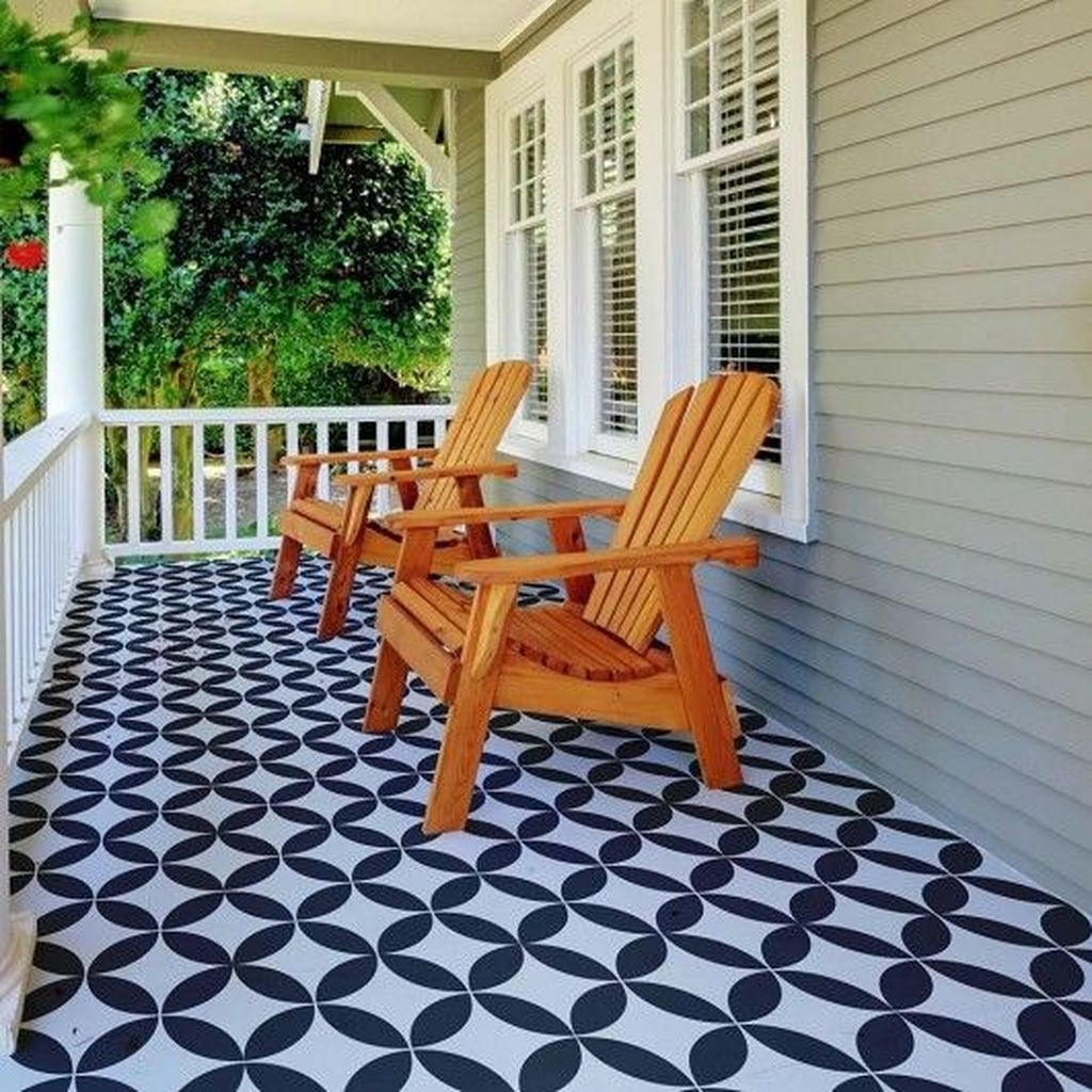Unusual Diy Painted Tile Floor Ideas With Stencils That Anyone Can Do 41