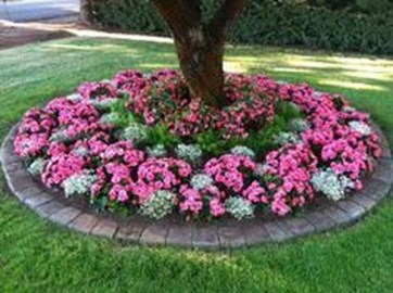 Adorable Flower Beds Ideas Around Trees To Beautify Your Yard 19