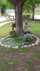 Adorable Flower Beds Ideas Around Trees To Beautify Your Yard 31