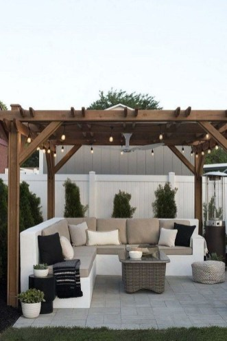 Elegant Backyard Patio Design Ideas For Your Garden 51
