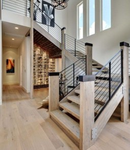 Gorgeous Wooden Staircase Design Ideas For Branching Out 21