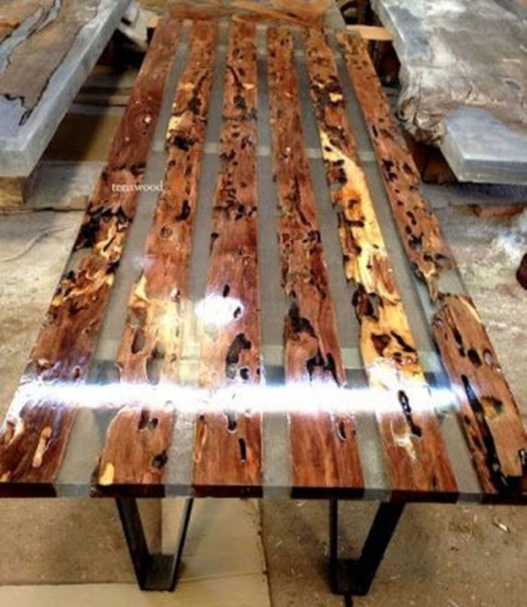 Impressive Home Furniture Ideas With Resin Wood Table 04