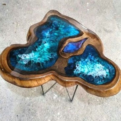 Impressive Home Furniture Ideas With Resin Wood Table 10