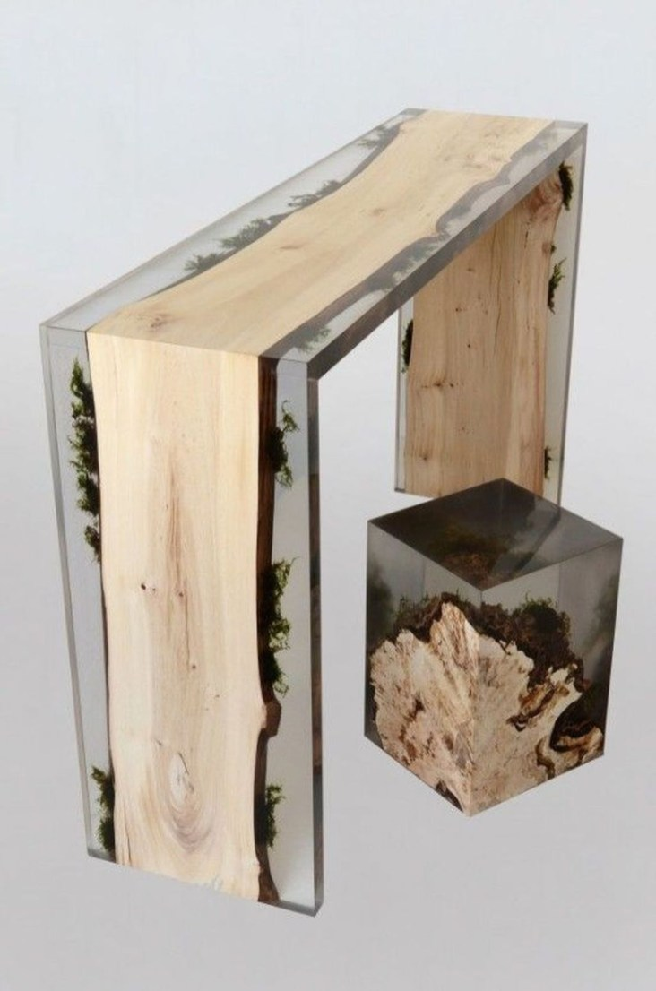 Impressive Home Furniture Ideas With Resin Wood Table 11